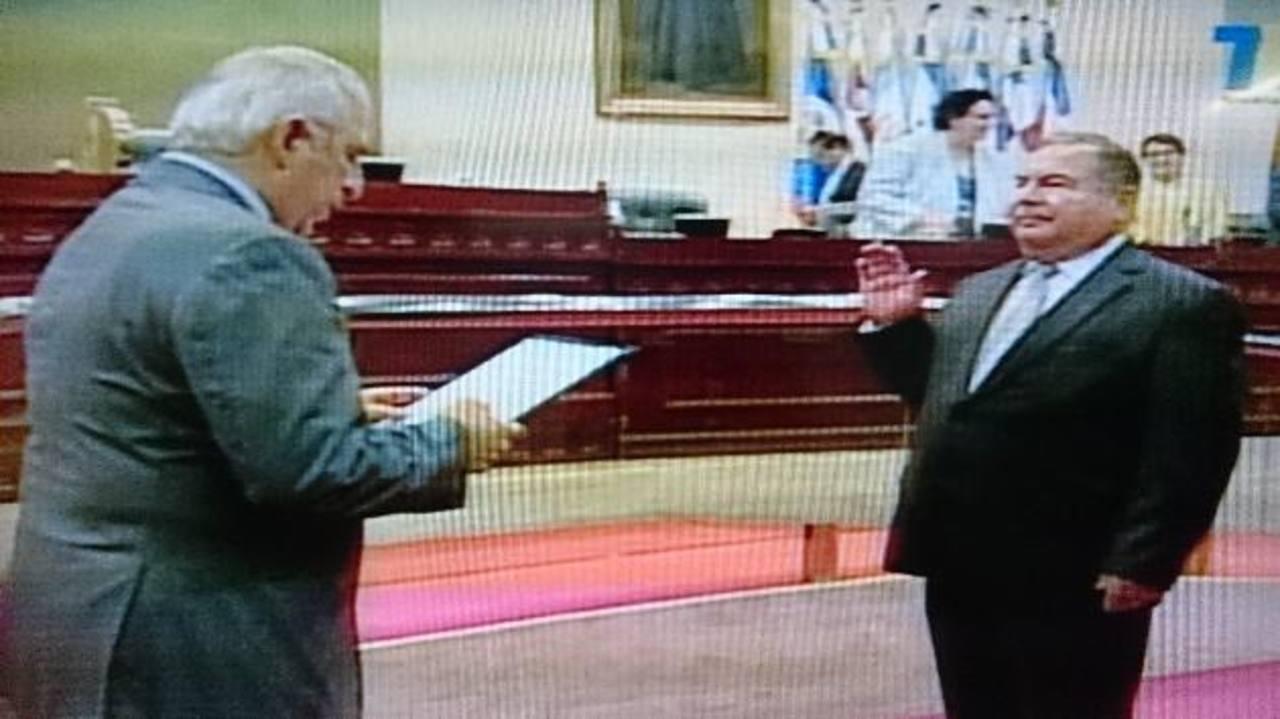Jovel Humberto Pineda juramentó como presidente de la Corte de Cuentas de la República.