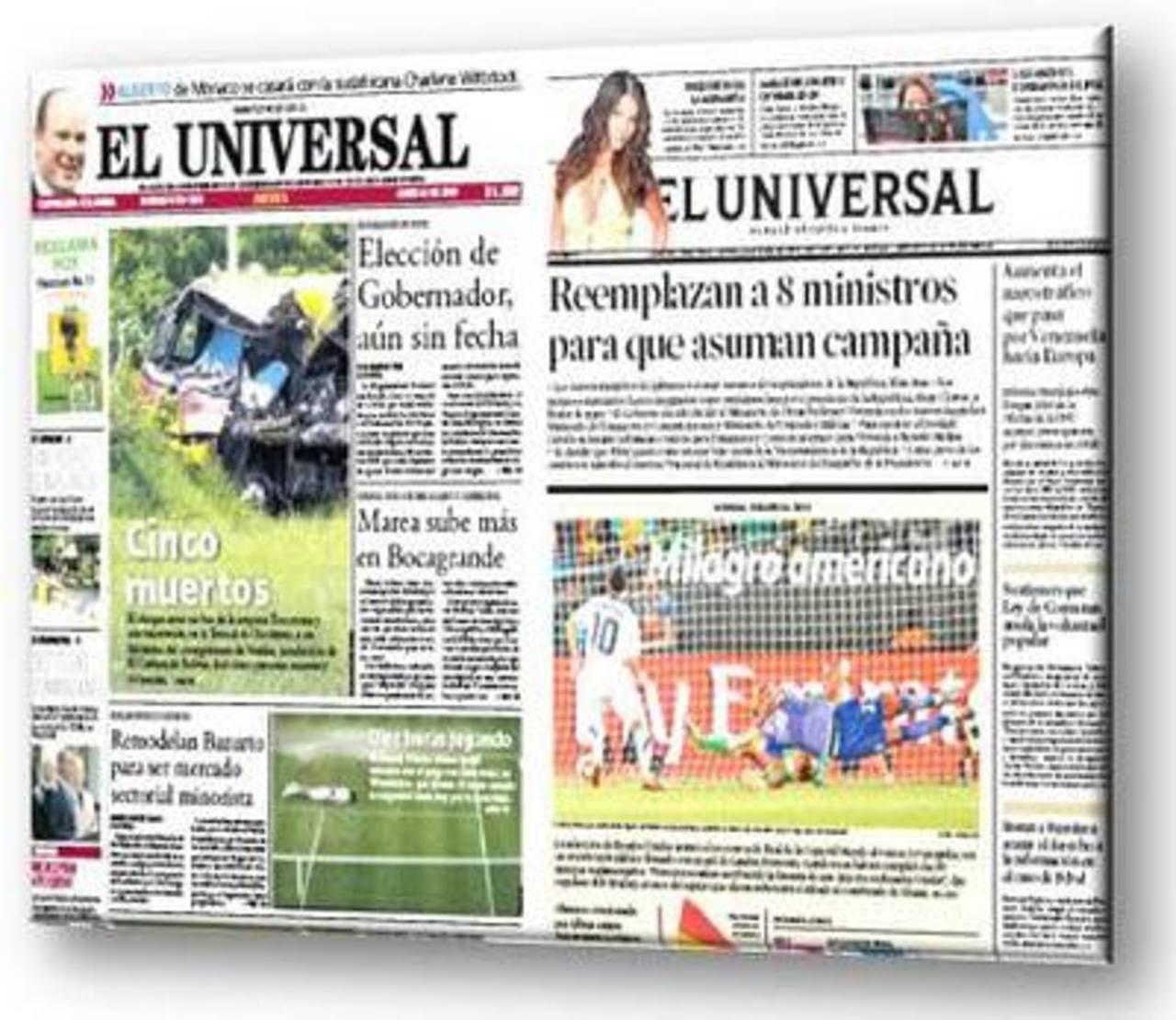 Venden diario El Universal