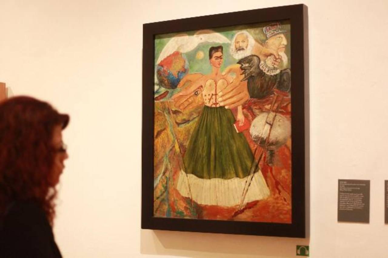 """La obra """"El marxismo dará la salud a los enfermos"""" de la pintora mexicana Frida Kahlo. foto edh/ EFE"""