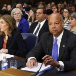 El secretario de Seguridad Nacional, Jeh Johnson, defendió la petición de recursos ayer en el Senado. foto edh / Reuters