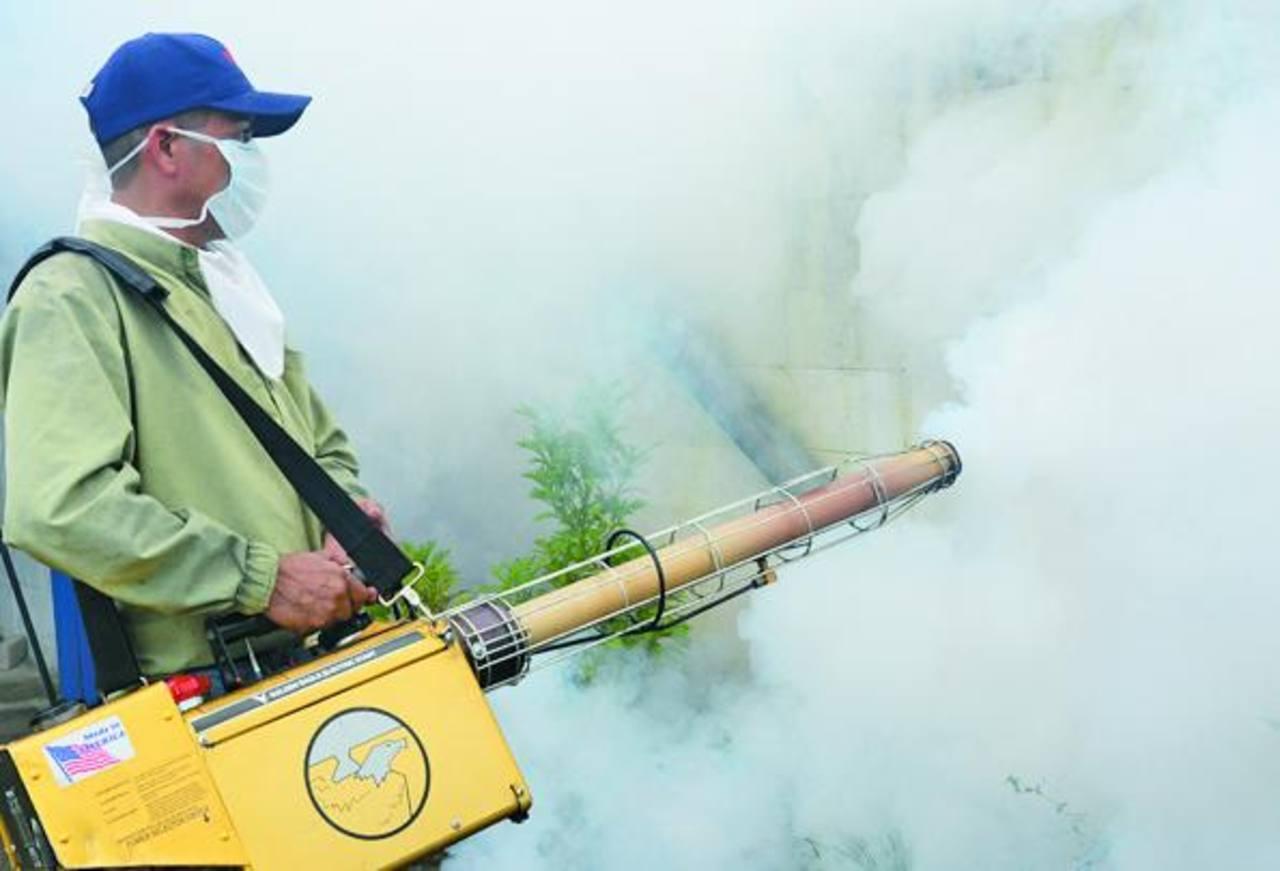 La campaña de fumigación fue realizada durante tres días. Foto EDH / ARCHIVO