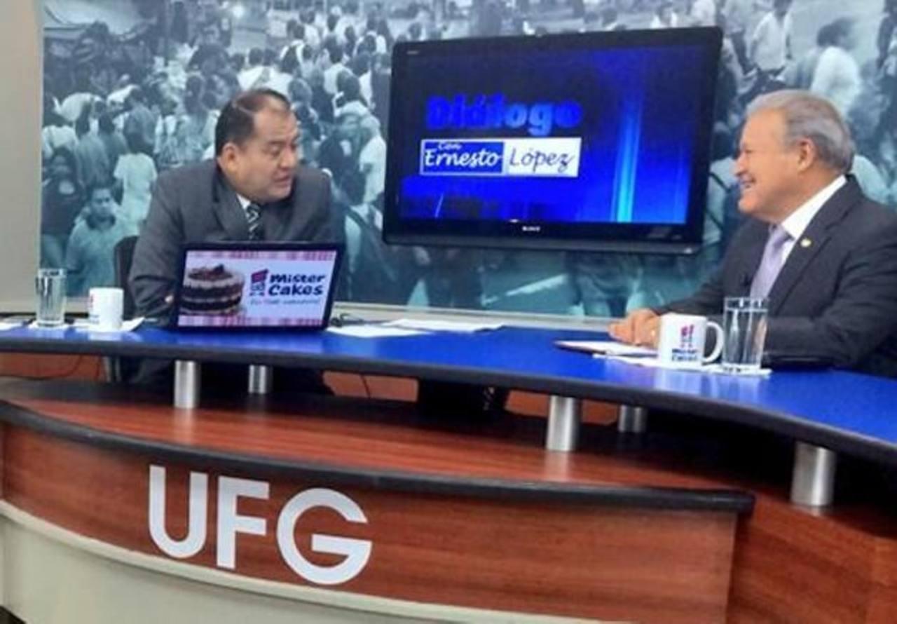 El presidente Salvador Sánchez Cerén durante la entrevista de canal 21, ayer por la mañana. Foto EDH