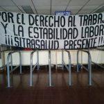 Paro parcial de labores en hospital Zacamil en demanda del reinstalo de empleado