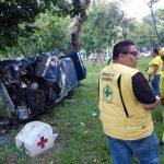 Un accidente sobre la Autopista a Comalapa dejó un lesionado