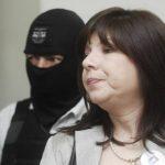 La madre de Katya Miranda, Hilda Jiménez, durante el proceso judicial contra el abuelo de la niña.
