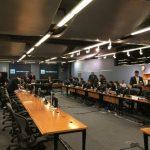 Salón en la sede del Banco Mundial donde se ha realizado la audiencia del litigio entre El Salvador y Enel en Washington, Estados Unidos. Foto EDH / Tomás Guevara