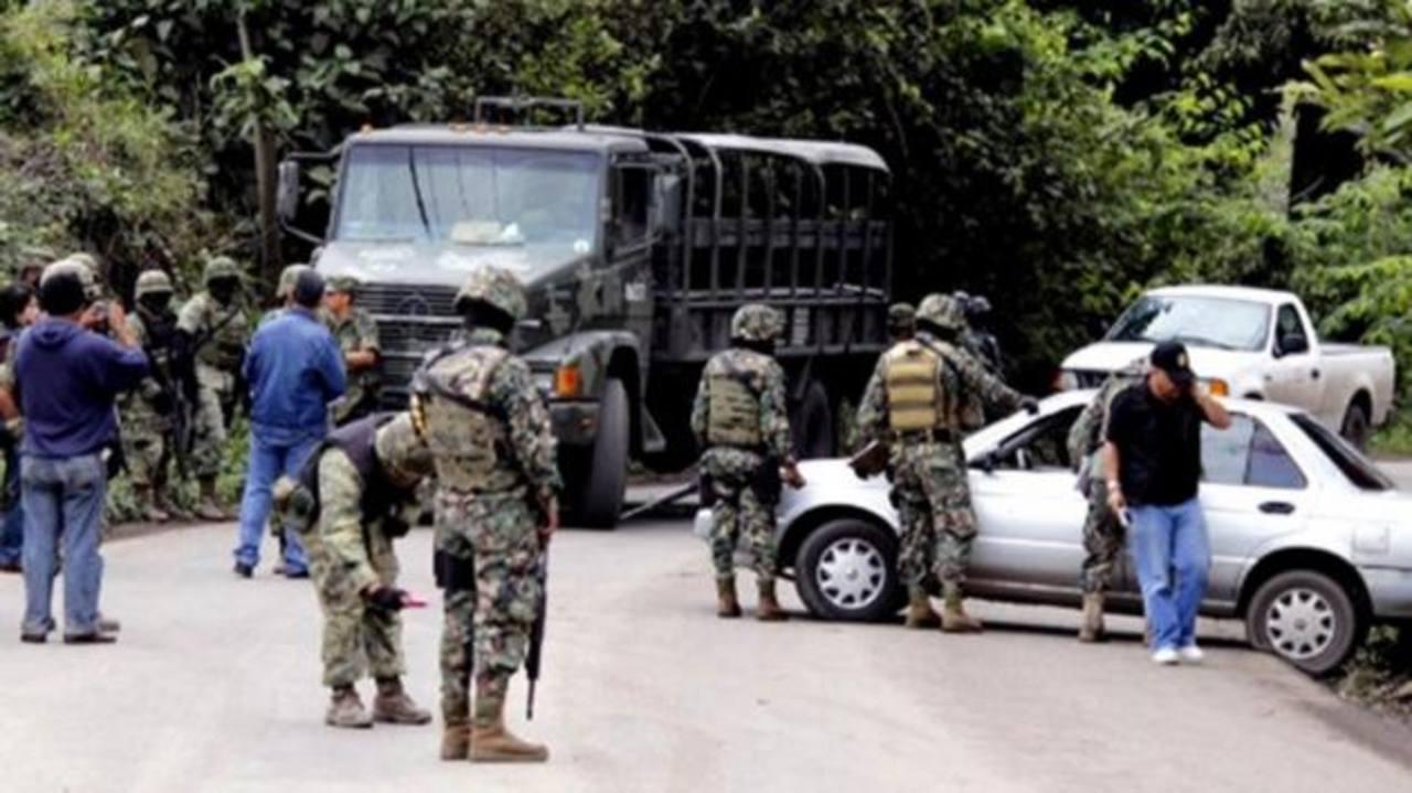 Militares en un operativo en el Estado de México.