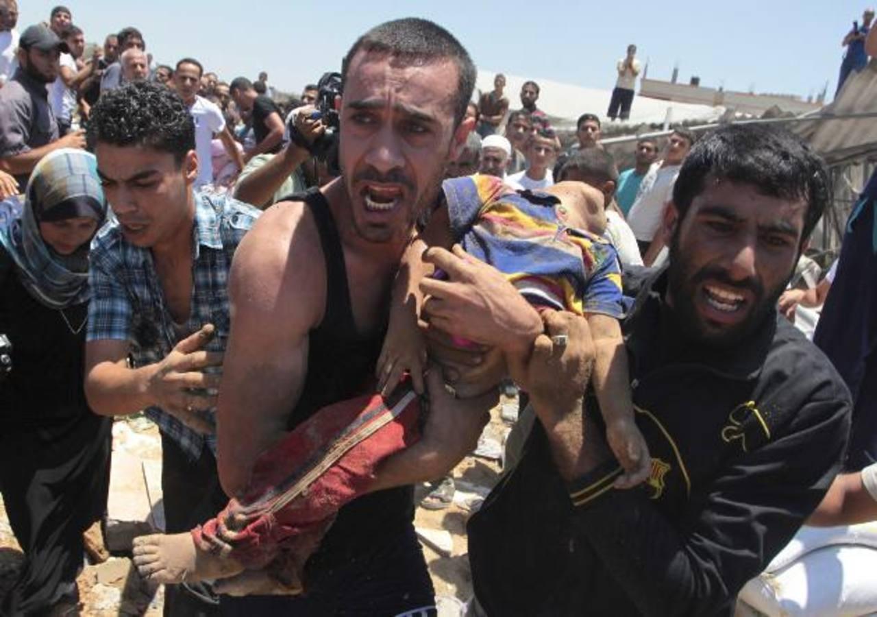 Sube a 7 la cifra de niños muertos en ataques a Gaza