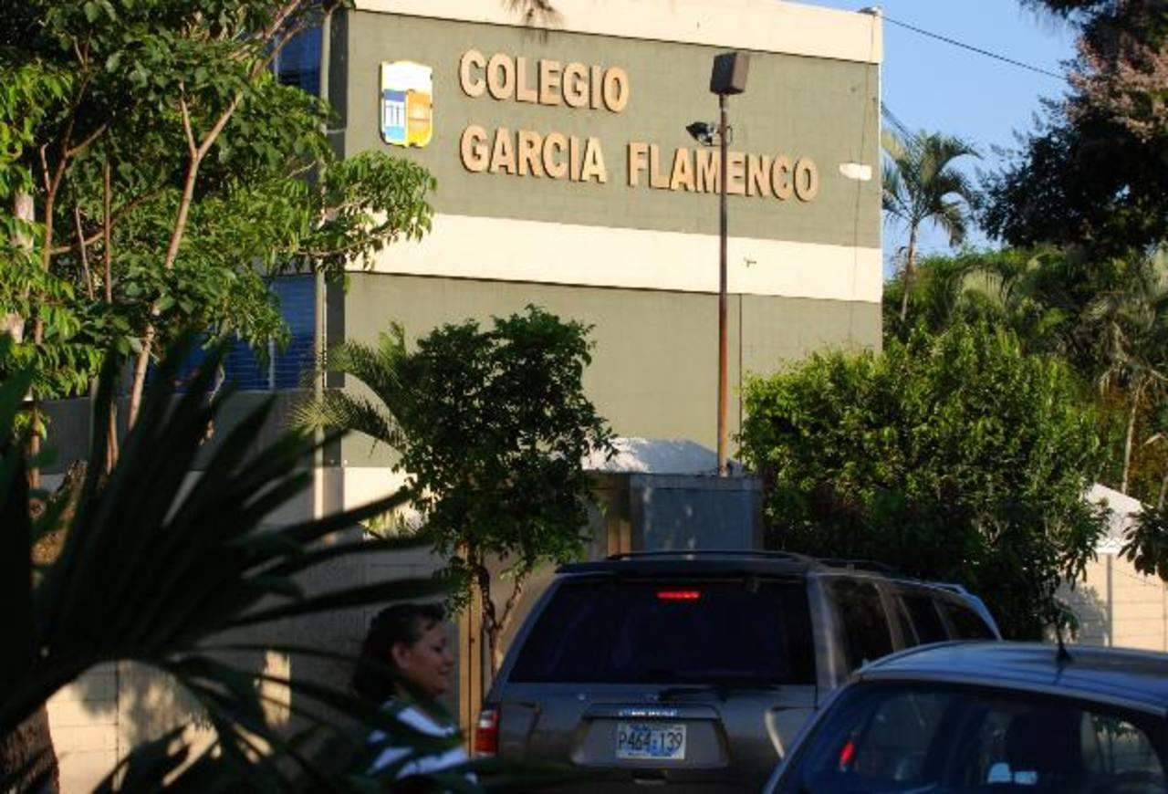 El Colegio García Flamenco es uno de los treinta centros privados del país que recibió la acreditación de calidad educativa en enero 2014, tras ser evaluados en 2013. Foto EDH / ARCHIVO