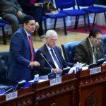 Los diputados Douglas Avilés, Rodolfo Parker y Rodrigo Samayoa durante la sesión plenaria del miércoles, en la cual se aprobó las reformas a la Ley Contra el Lavado de Dinero. foto edh