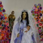 Las fiestas son en honor a Santiago Apóstol. Le acompaña la Virgen del Pilar, de Sonsonate. foto EDH/Iris Lima