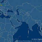 Zona de la caída del avión