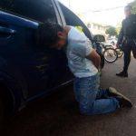 Saúl Barrera fue detenido ayer por arrollar a un agente y luego tratar de huir. Al realizarle la prueba de alcotest presentaba 177 grados de alcohol. Foto EDH / Jaime Anaya.