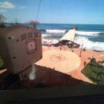 La cámara especial instalada frente al muelle del Puerto de La Libertad.