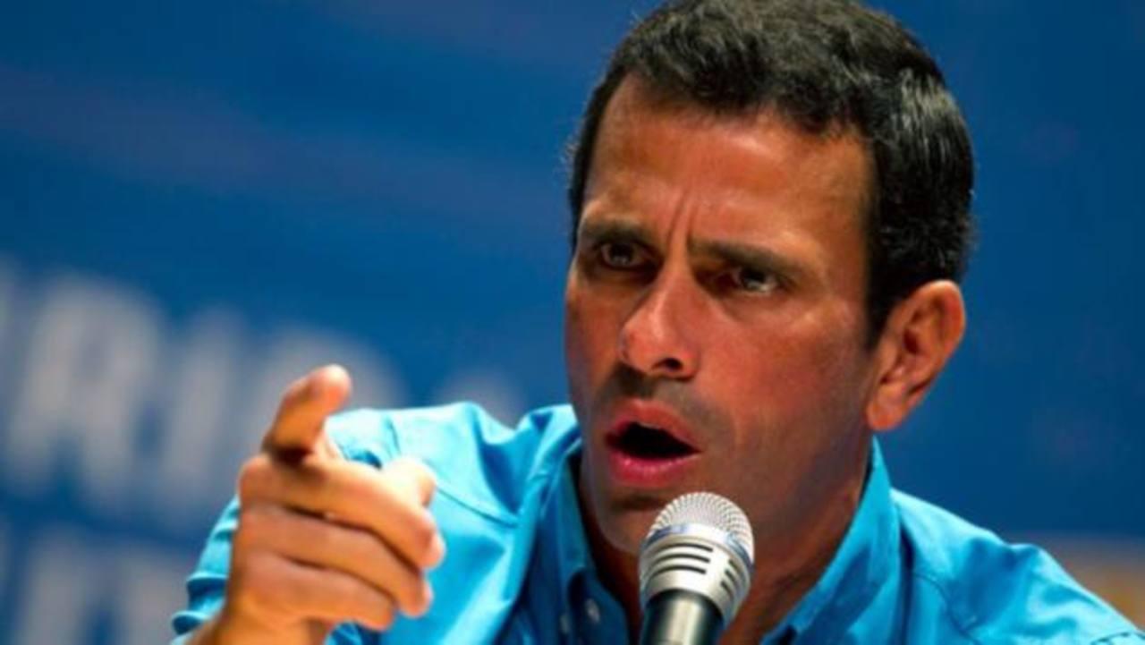 Henrique Capriles, líder de la oposición venezolana.