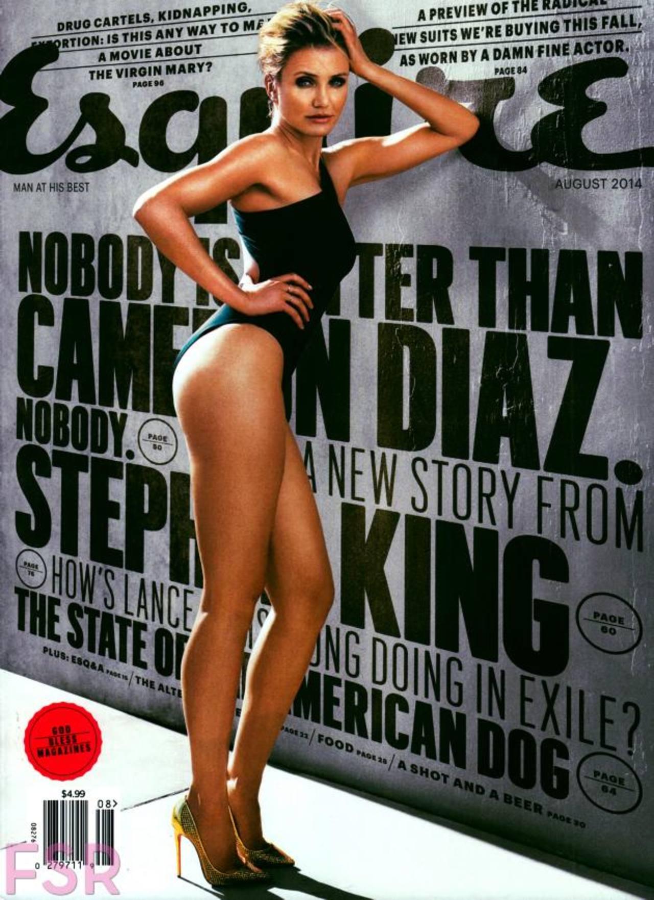 """Portada de la revista Esquire, con Díaz en la portada, sale a la venta el 18 de julio. """"Sex Tape"""" se estrena el mismo día."""
