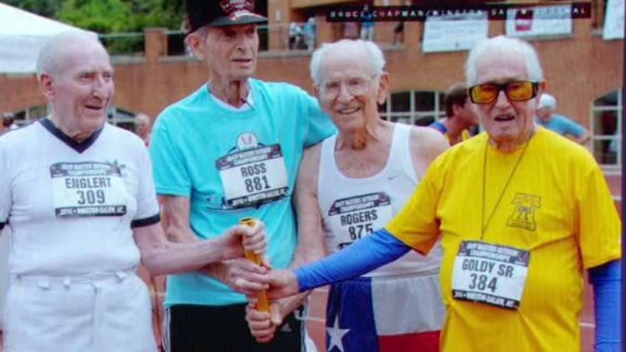 Abuelos de más de 90 años vencen récord mundial en campeonato de atletismo
