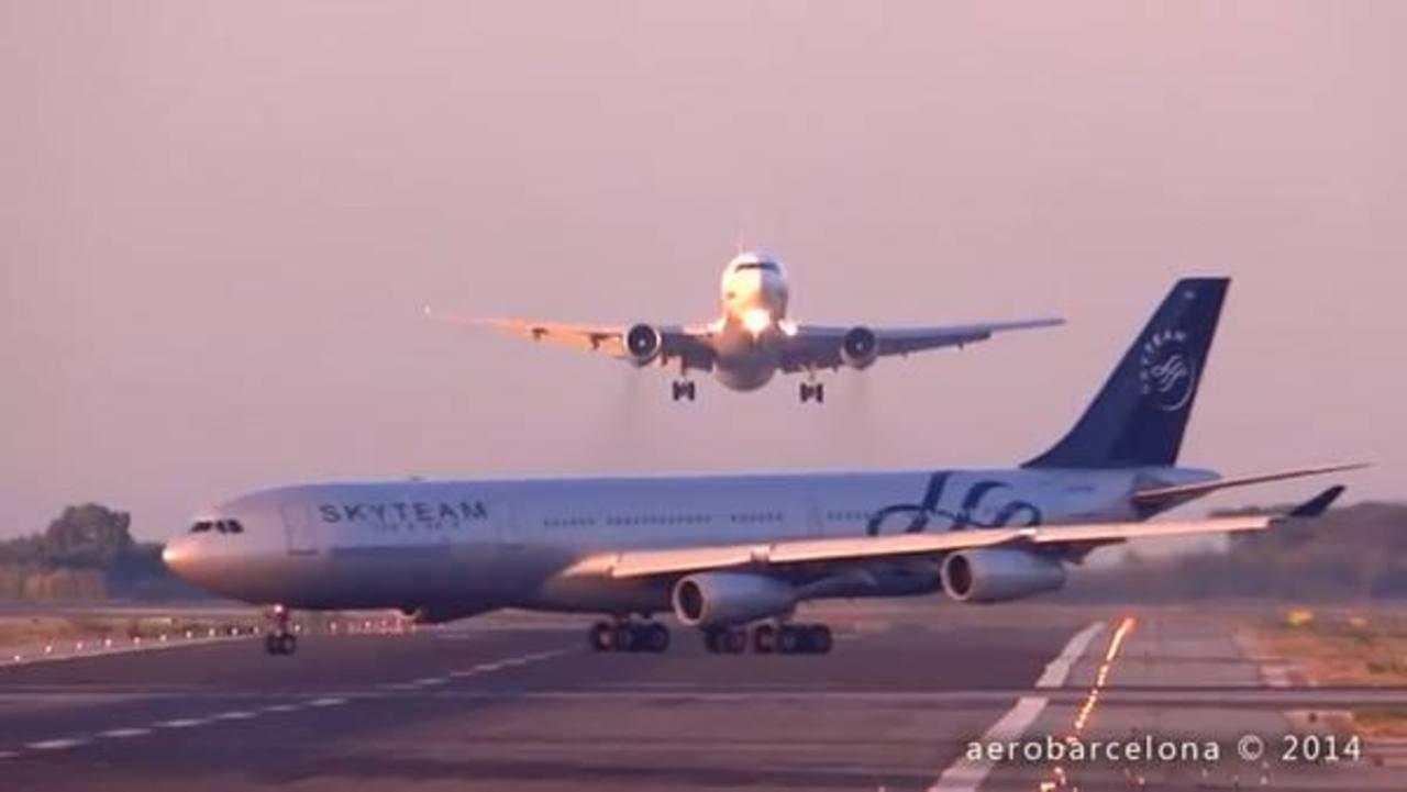 Video: Avión de Aerolíneas Argentinas casi choca con otro en Barcelona