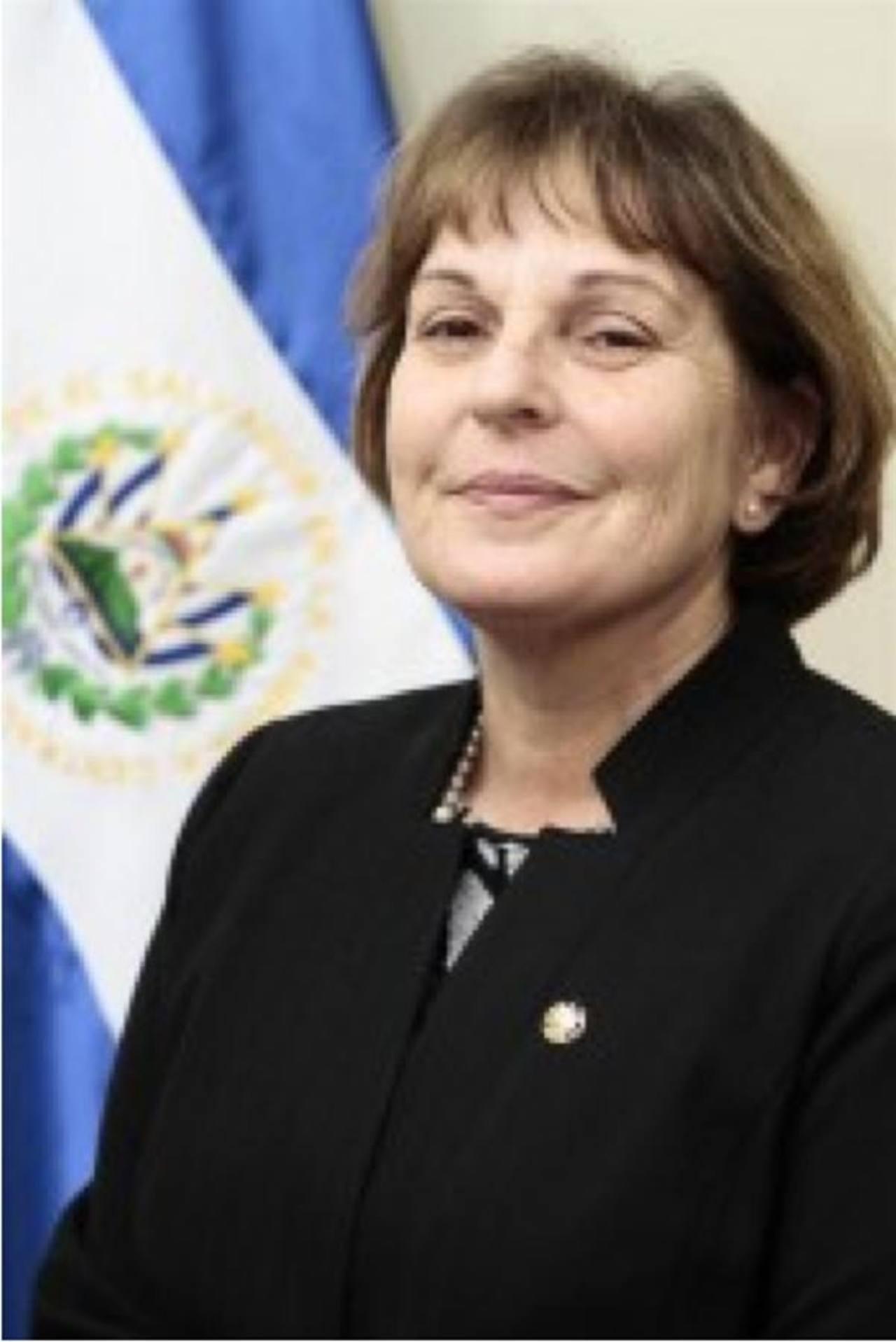 Susana Edith Gun de Hasenson es la embajadora de El Salvador ante Israel. foto edh /Tomada de www.rree.gob.sv