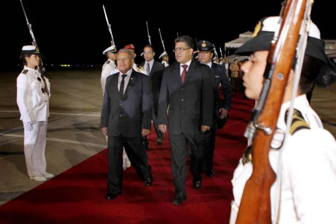 Cancillería afirmó ayer que la reunión entre el canciller venezolano Elías Jaua y el presidente Sánchez Cerén será privada.