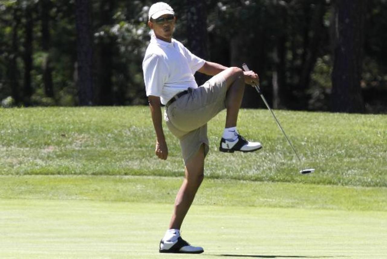 El presidente Barack Obama estuvo jugando al golf en un club de campo cercano a Washington. foto edh / www.telegraph.co.uk/