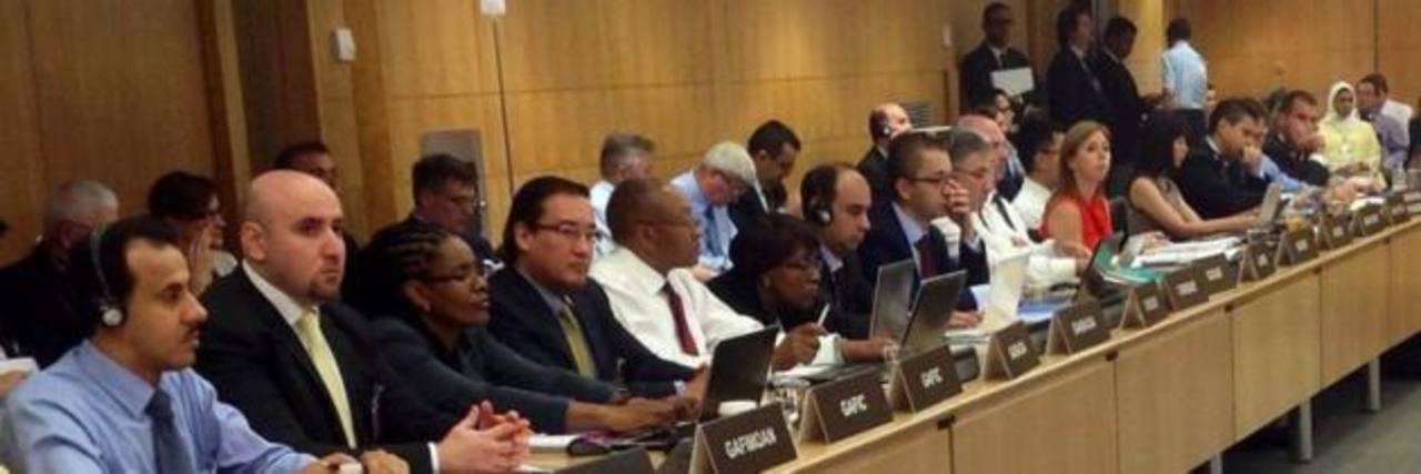 El Fiscal General, Luis Martínez, durante la reunión mundial del Gafic, en junio pasado, para dar seguimiento a las observaciones en tema de lavado de dinero. Foto EDH / Cortesía FGR.Fiscal Martínez volvió a insistir en la aprobación de reformas a la