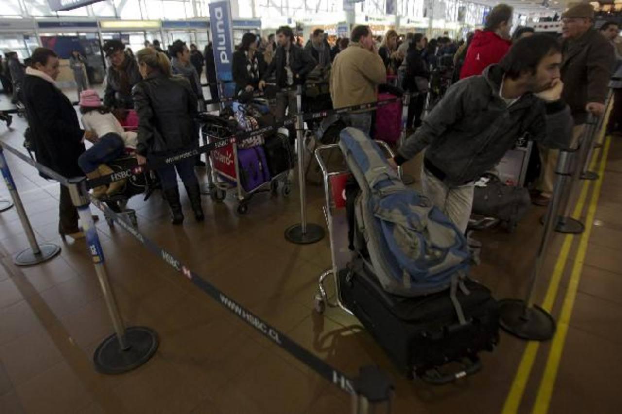 Las terminales lucieron saturadas de pasajeros.
