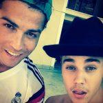 Yo y Cristiano estamos preparándonos para la temporada, escribió Bieber en la foto que publicó en su cuenta de Instagram.