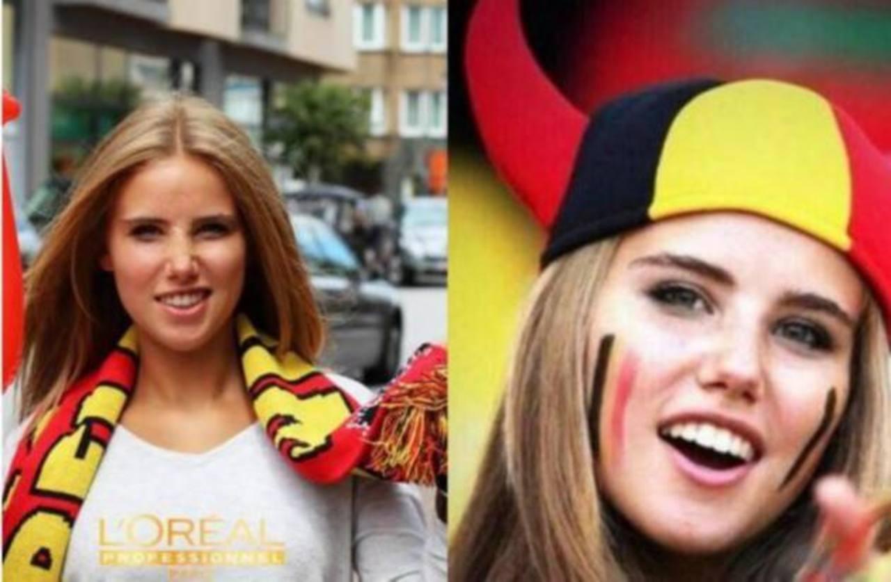 Conoce por qué L'Oréal despidió a la hincha belga famosa en Brasil 2014