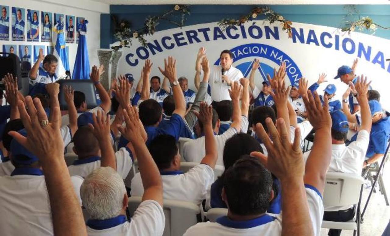 Acordaron profundizar los deberes y derechos de los afiliados al PCN. foto edh / CORTESÍA