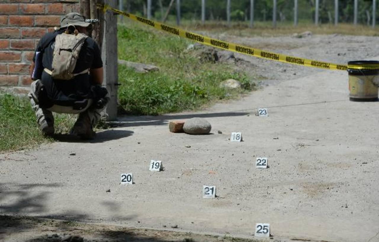 Los primos Oliver Antonio Inglés y José Daniel Inglés fueron asesinados en Zacatecoluca, La Paz. Foto EDH / Jaime Anaya.