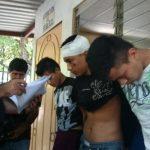 Pandilleros detenidos en Panchimalco.