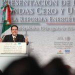 El titular de la Comisión Nacional de Hidrocarburos de México, Juan Carlos Zepeda, habla durante un acto realizado este miércoles en Ciudad de México.