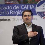 """El presidente de Honduras, Juan Orlando Hernández, participó este miércoles en el simposio """"El impacto del CAFTA en la región"""", que se celebró en Tegucigalpa."""
