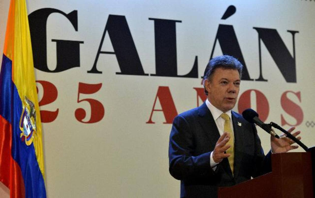 El mandatario colombiano, Juan Manuel Santos, durante su discurso.