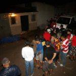 Escena de la masacre registrada la noche del sábado.