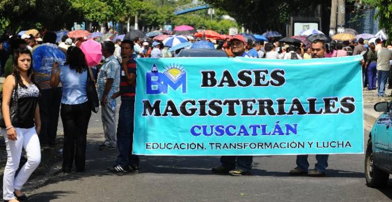 Gremios docentes protestarán en bloque