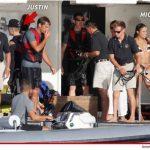 Michelle Rodríguez y Justin Bieber comparten yate en España