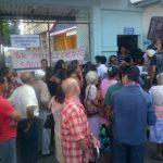 Sindicalistas impidieron el ingreso de pacientes al hospital San Juan de Dios de Santa Ana.