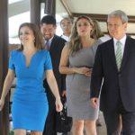 El presidente del Jica, Akihiko Tanaka, realizó un recorrido por todos los módulos de Ciudad Mujer. Foto EDH / Cortesía