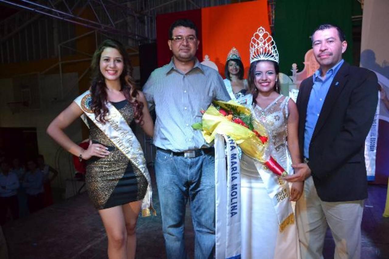 La reina de los festejos patronales en honor a la Virgen de la Asunción es Ana María Molina. Foto EDH / Cortesía