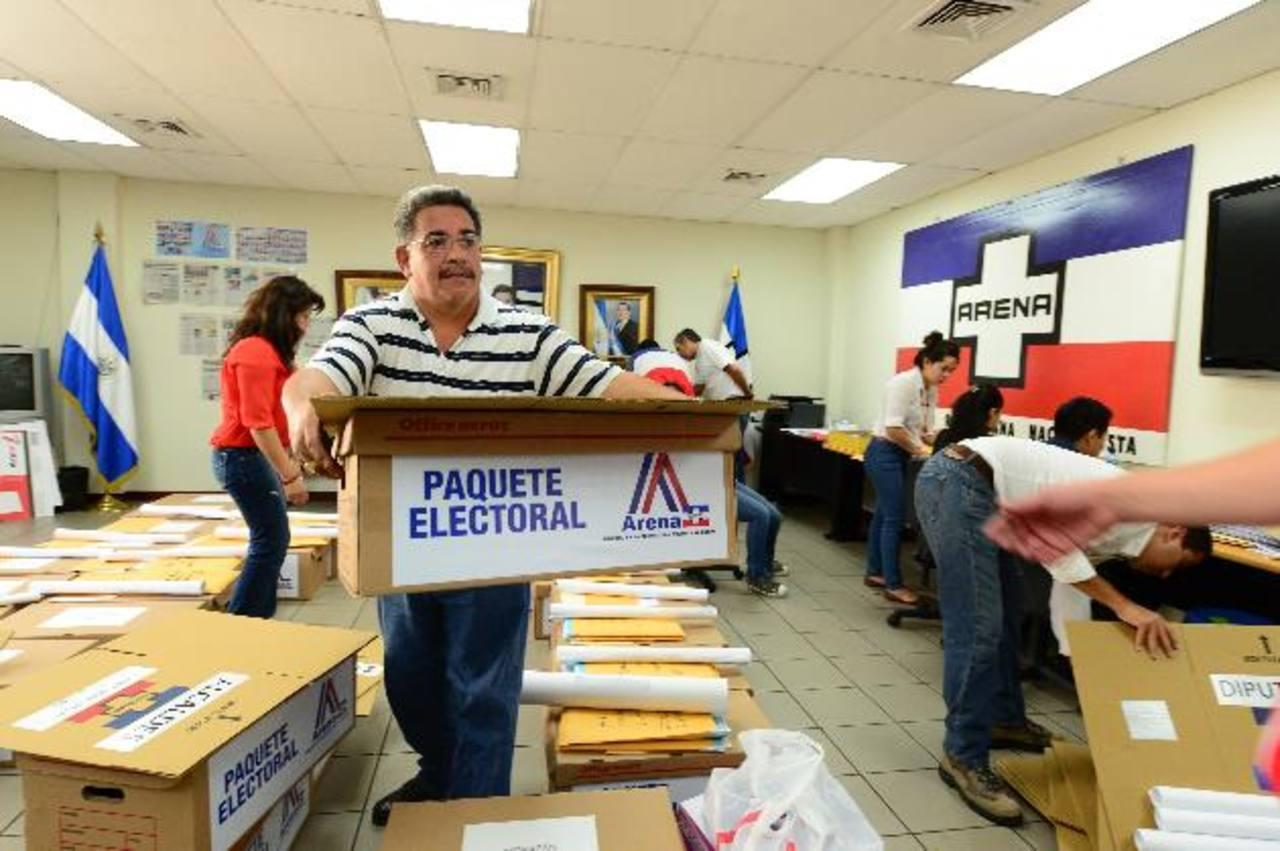 ARENA va a votaciones para elegir a candidatos