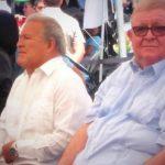 El Presidente Salvador Sánchez Cerén y el Ministro de Hacienda, Carlos Cáceres.