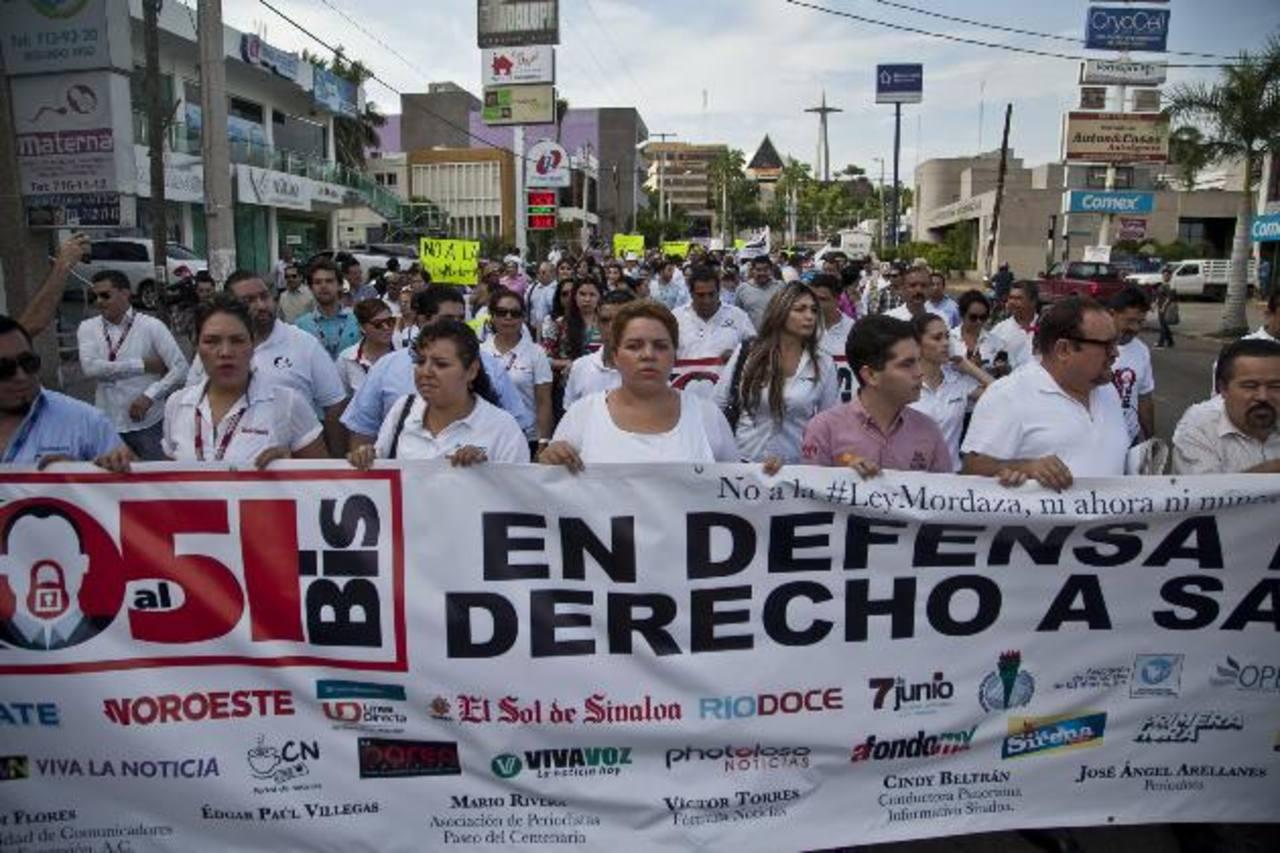 Medios protestan en Sinaloa por \