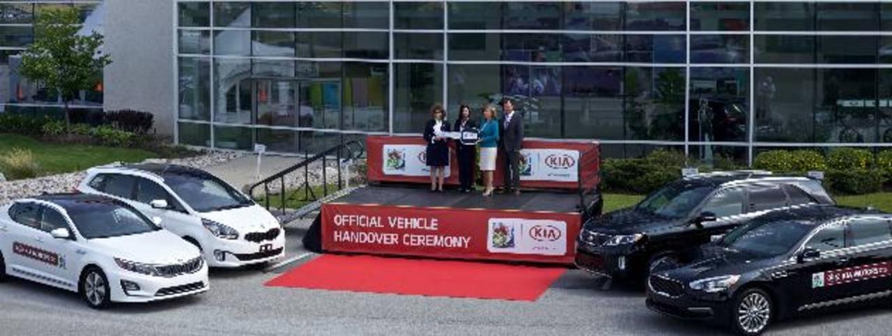 Kia entregó 70 vehículos para transportar a encargados de logística del torneo sub20 femenino de la FIFA. foto edh / Cortesía