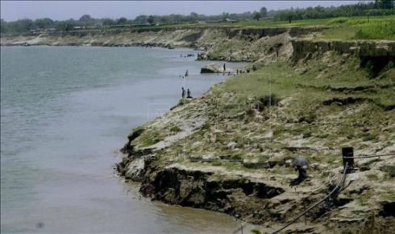 Vista general del río Padma.