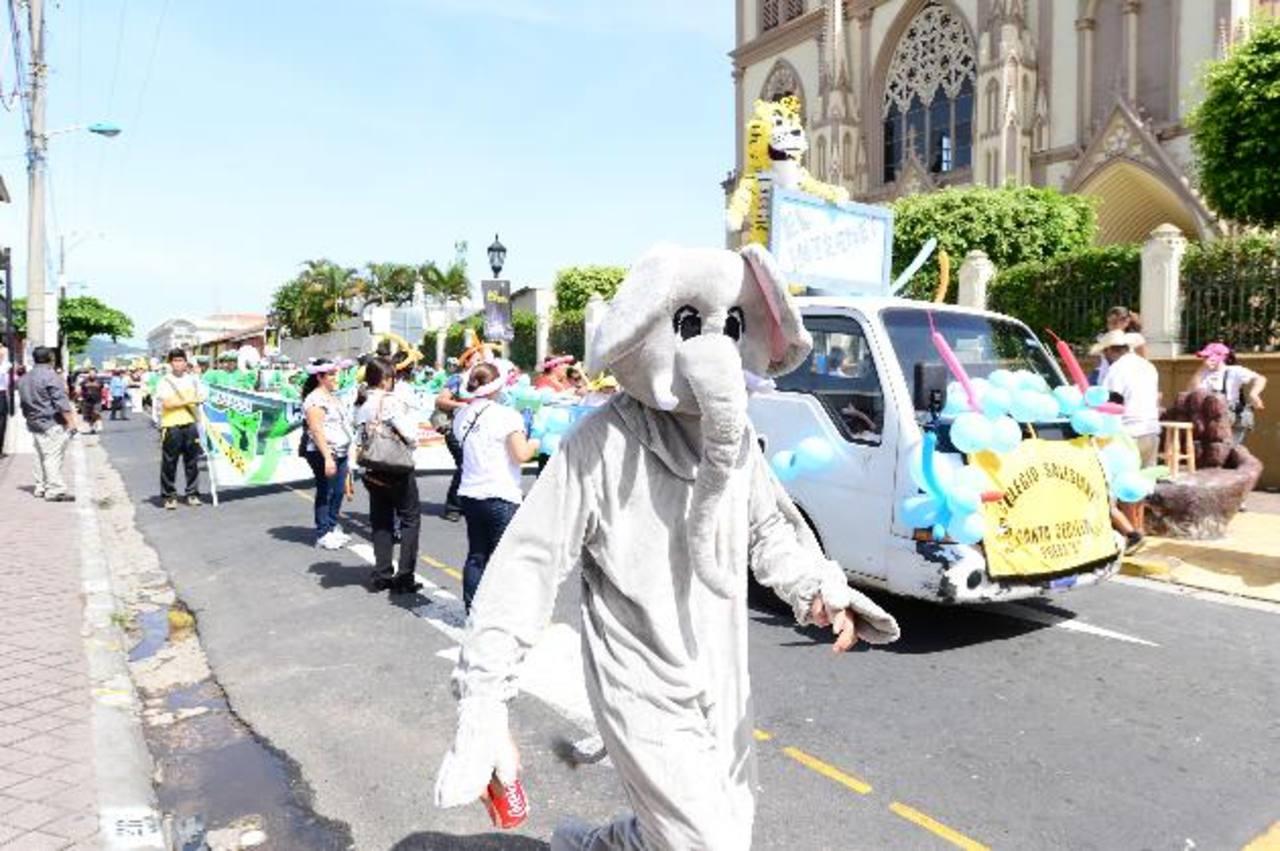 Los niños y jóvenes fueron los principales protagonistas.El entusiasmo salesiano estuvo presente . foto edh / Jorge Reyes