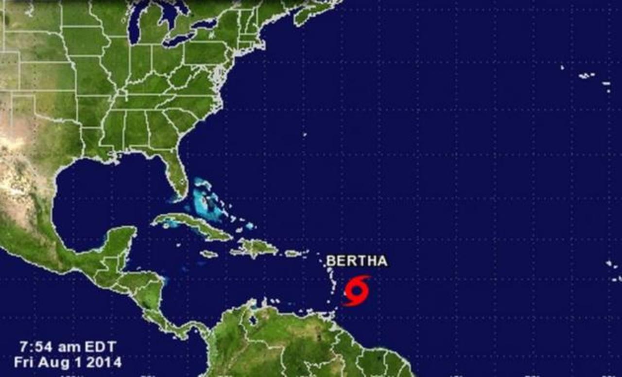 """La tormenta """"Bertha"""" continúa su ruta hacia el noreste del Caribe"""