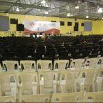 Así lucía ayer el Pabellón No. 1 del Centro Internacional de Ferias y Convenciones (Cifco), mientras un equipo del FMLN preparaba el lugar para la XXXI Convención Nacional Ordinaria.