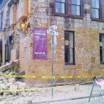 Edificios de la ciudad de Napa sufrieron daños en las fundaciones. Algunos fueron declarados inhabitables por las autoridades.